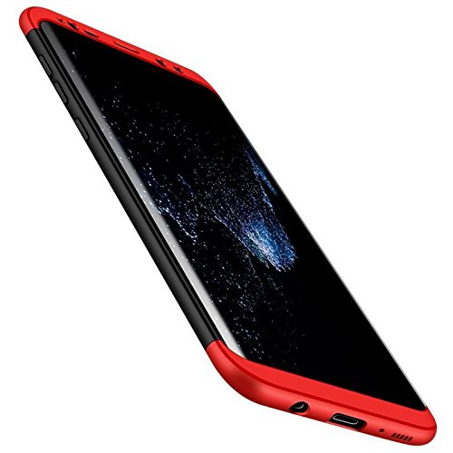 Aarnik GKK 3 in1 Full Protection Back Cover Case for Samsung Galaxy S8 Plus - (Red Black)
