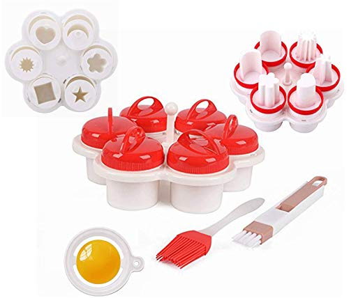 Eierkocher Silikon, Kreative Modellierung Fancy Egg Cup,BPA Frei Non StickEierkochern ohne schale easy eggs,Non Stick Silikon Gekochte Dampfer Eggies Cooker,Pochier Schnelle. (6 Pack)