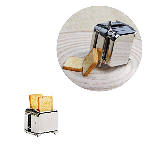 Wixine 1Pcs Doll House Miniature Toaster Bread Machine Kitchen Cookware Accessory Decor 1/12