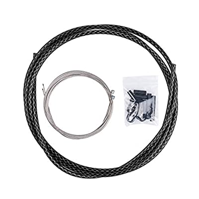 EASTERN POWER Shift/Shifter Cable & Housing Set, Derailleur Cables Black Braided PTFE Cable Housing Set for Mountain Bike and Road Bicycle, Universal