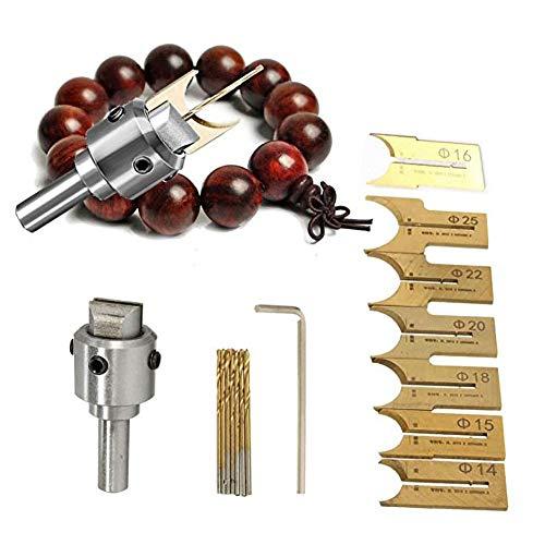 Fresas Herramientas CNC de 6 mm a 25 mm Fresa Router Bit Buda granos de la bola de la carpintería Herramientas de cuentas de madera de perforación Broca de fresado (Cutting Edge Length : A3)