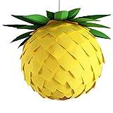 Pineapple Ø 35cm, gelb grüne Lampe Leuchte Lampenschirm Pendellampe Pendelleuchte Hängelampe...