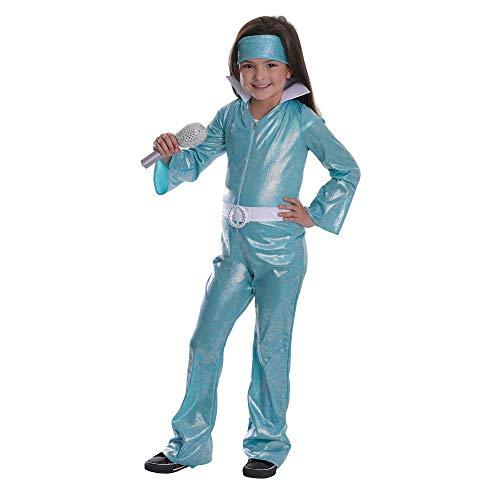 Bristol Novelty - Disfraz Infantil Pop Star Diva para nio nia (L) (Azul/Blanco)