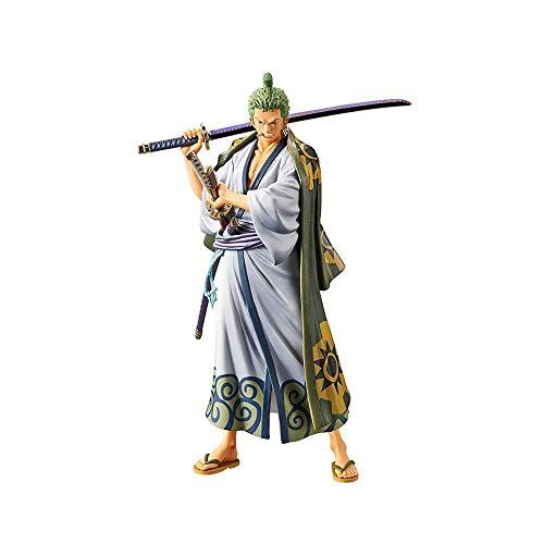CSXN One Piece Zoro Wano Kuni Figur, Mehrfarbig 18CM