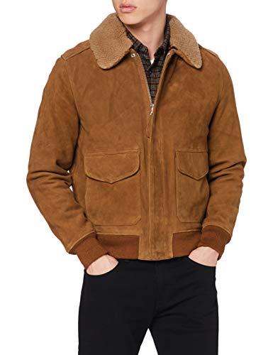 Schott NYC LC2410S Chaqueta, Beige (Rust/Brique Rust/Brique), XXL para Hombre