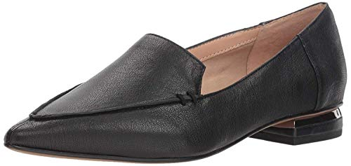 Womens Franco Sarto Starland Pointed Toe Ballet Flats, Black Leather