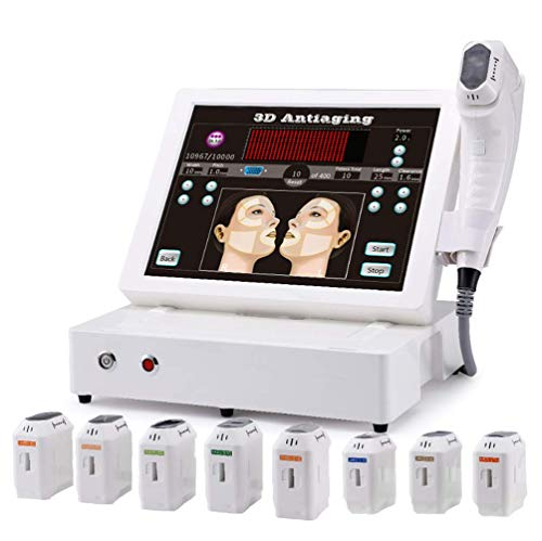 Naturl Hifu Hautstraffungsmaschine hohe Intensität fokussiert Ultraschall Behandlung für Gesichtpflege Anti Falten Anti-Aging Körper abnehmen mit 8 Patronen Nicht-invasiv