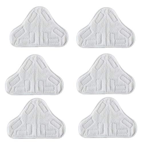 Panni sostitutivi in microfibra lavabili per pulitore a vapore modello H2O X5, confezione da 6 pezzi