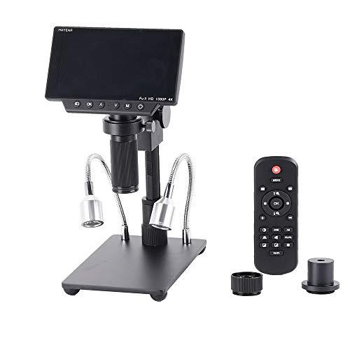 Microscopio,Baugger- HY-1080 Microscopios de soldadura 4K de 5 pulgadas y 34MP Cámara Mantenimiento digital Pantalla digital