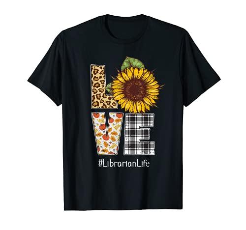 Ph Love Leopard - Disfraz de bibliotecario de girasol Camiseta