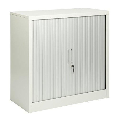 MMT Furniture Designs - Armario de 2 puertas (acero gris, 900 mm de altura)