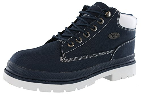 Lugz Men's Drifter Ripstop Classic Chukka Boot, Navy/White, 12