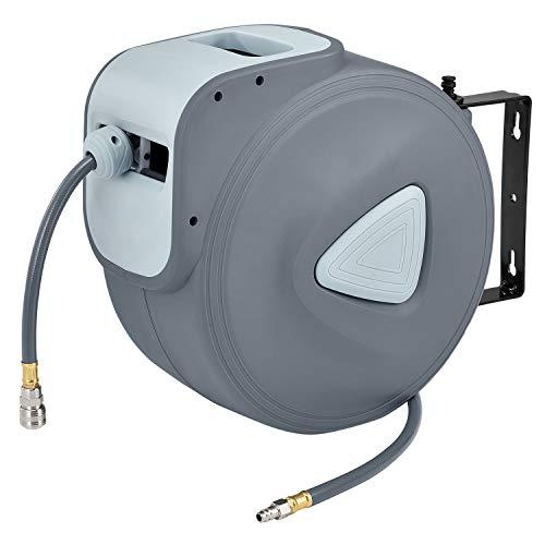 Juskys Druckluftschlauch Aufroller Pressure 30m automatisch 1/4 Zoll Schnellkupplung Schlauchaufroller Automatik Druckluft Schlauchtrommel