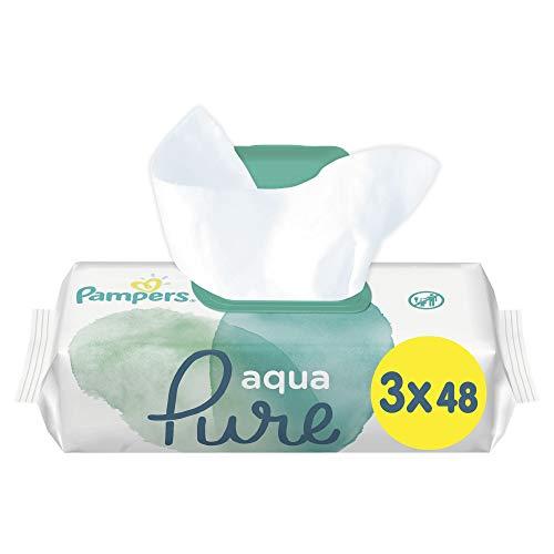 Pampers 81691055 Aqua Pure Baby Feuchttücher, weiß