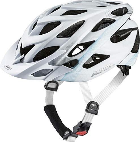 Alpina Sports Unisex– Erwachsene D-Alto Radhelm, weiß, 57-61