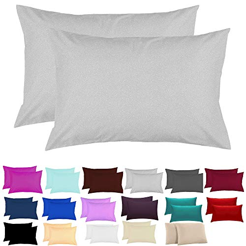 JD Linens Plain Dyed Pillowcase - 100% Polycotton Housewife New 2 x Pillowcases | Percale Bedroom Pillow Cover | Super Soft Quality - 50 x 75 cm