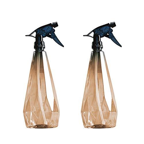 Amber Spray Bottle-Cleaning Spray Bottles,Healthy Plastic & 32 oz Spray Bottle For Hair&Hand&Clothe&Bathroom&Plant,Empty Mister Refillable Spray Bottles With ET,Essential Oil,Water,etc.(2 pack)