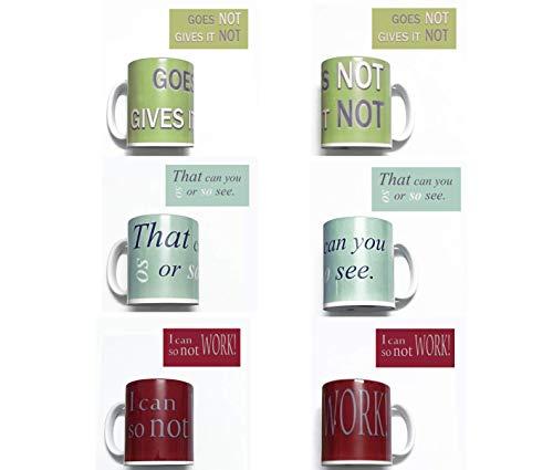 3 Denglisch Tassen Set fürs Lehrerzimmer/Büro - lustige Denglish Sprüche - Englisch Übersetzungen Spruch - Humor - Geschenk für Lehrer