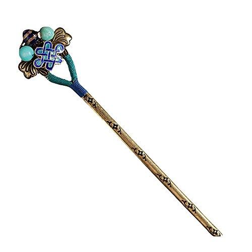 Jiu Bu Original Fait Main épingles à Cheveux Cloisonné Accessoires pour Cheveux pour Femmes,Copper