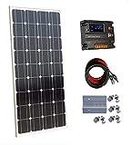 ECO-WORTHY - Panel solar monocristalino de 100 W y 12 V con controlador de carga de 10 A para...