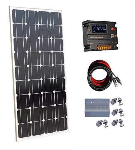 ECO-WORTHY 100W 12V Monocristalino Panel Solar con controlador de carga de 10a para off-Grid sistema de batería de 12voltios