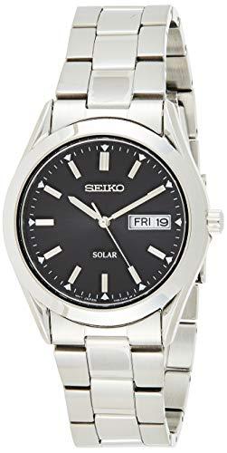 Seiko Solar Herren-Uhr Edelstahl mit Metallband SNE039P1