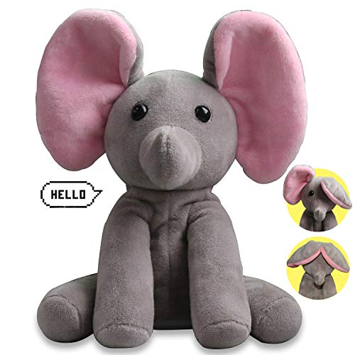 Yoego Talking Toy, Plush Elephant Cute Sound Effects with Repeats Your Said Voice, Best Buddy for Kids Gift