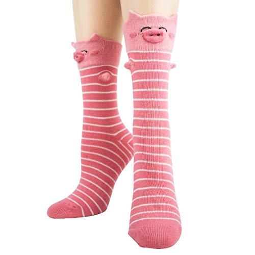 Foot Traffic, Women's 3D Socks (Pig, Women's Shoe Size 4-10)