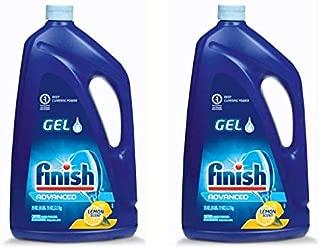 Finish Dishwasher Detergent Gel Liquid, Lemon Scent, 75oz (Pack of 2)