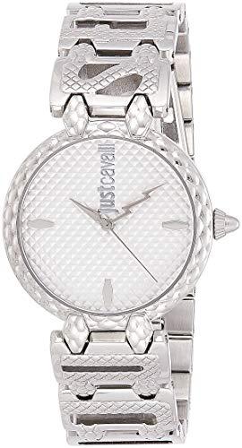 Just Cavalli Damen Analog Quarz Uhr mit Edelstahl Armband JC1L056M0015