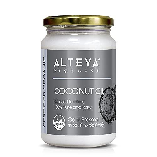 Alteya Organic aceite de coco extra virgen 350ml - 100% aceite de coco orgánico con certificado USDA, puro y natural cocos nucifera
