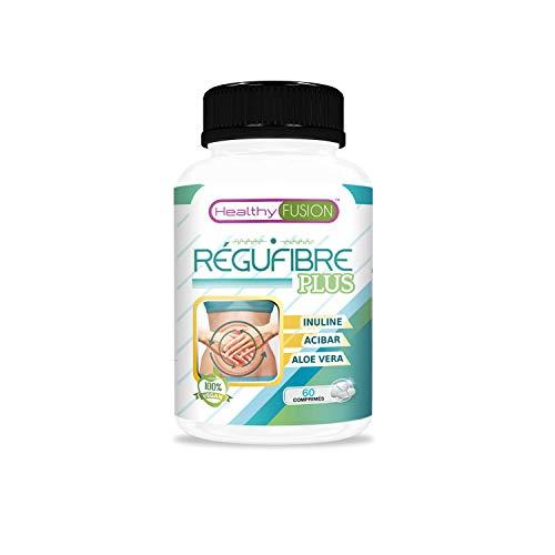 Probiotique de fibre avec inuline et aloe vera   Prévient la constipation   Action laxative et dépurative   60 comprimés
