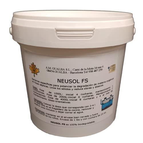 Neusol FS 1 Activador Bacterias Elimina Olor Fosa Séptica/Pozo Deshace Atascos Mejora filtración