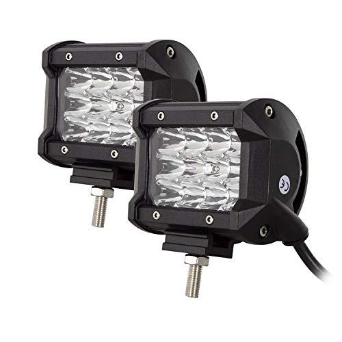 SKYWORLD 4 Zoll 36W LED Arbeitsscheinwerfer Bar, 12V 24V IP67 Wasserdicht Zusatzscheinwerfer Arbeitslicht LED Scheinwerfer Arbeitsleuchte (2 Stück)