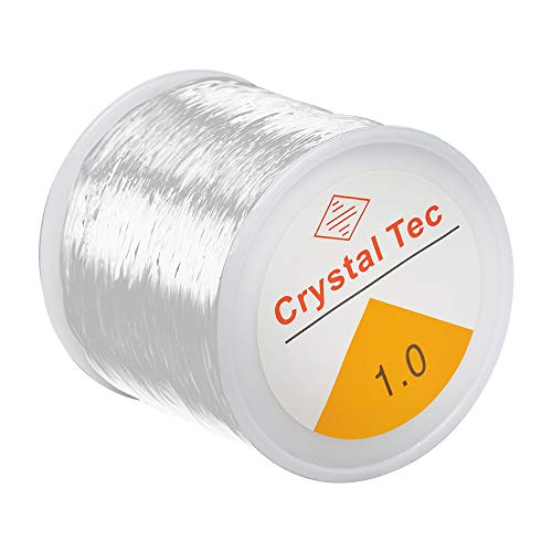 Elastic String for Bracelets, Oasisblossom 1mm Clear Bead Cord Crystal String Cord Stretchy String for Bracelet DIY Jewelry Making Necklace Beading Thread Craft Projects (328ft)
