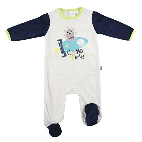 Pijama bebé terciopelo Cosmo Party–Talla–3meses (62cm)