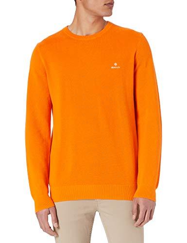 GANT Herren Cotton Pique C-Neck Pullover, Russet ORANGE, XXXL