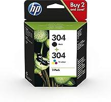 HP 3JB05AE 304 Bläckpatron Svart, Cyan, Magenta, Gul Paket med 2