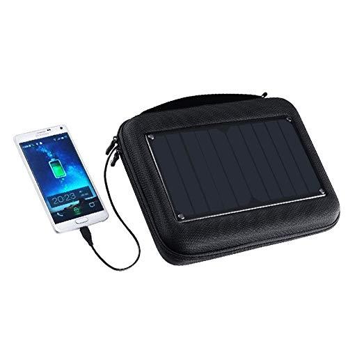 Zhhhk Bolsa De Almacenamiento De Cámara De Deportes Solar Impermeable 5W Cargador Solar Salida USB Cargador