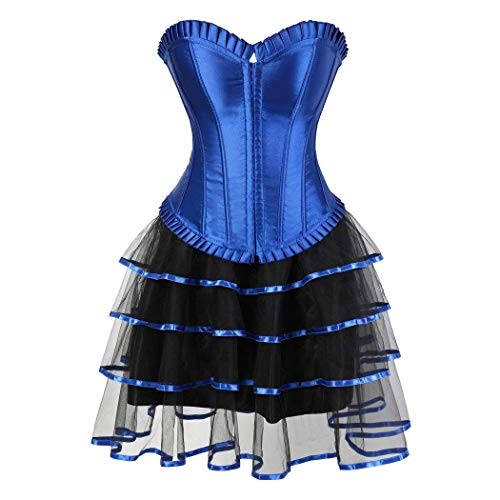 Crystallly Corsage Party dames gothic korset rok veters vintage eenvoudige stijl body shaping moulin rood showgirl clubwear kostuum cocktail