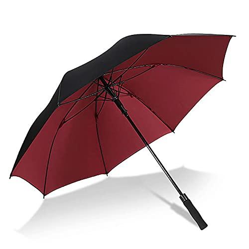BVDOYFYJ Paraguas de Viaje de Negocios para Lluvia, sombrilla de Playa a Prueba de Viento, para Hombres y Mujeres con Mango Elegante, Viene con 1 Funda de Paraguas para un fácil Almacenamiento