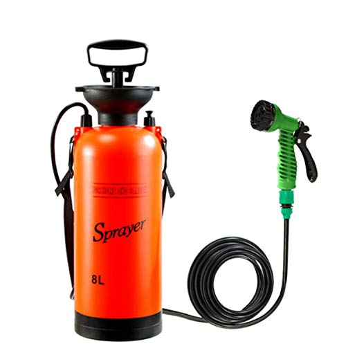 Pneumatische Spuitbus 7 Modes Met Multifunctionele Waterpistool Fogger Sprayer Verstuiver Voor Indoor Outdoor Douchen, Watering Flowers, Autowassen,8L