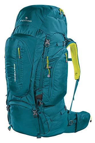 Sac à Dos Femme Trekking Transalp Lady 60 litres Marque Ferrino – étudié pour la morphologie des Femmes – Idéal pour Randonnée ou Bagages Voyage Aventure