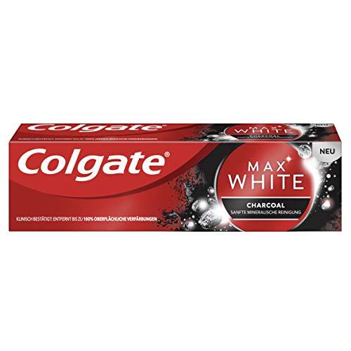Colgate Max White Expert Charcoal Zahnpasta, 75 ml