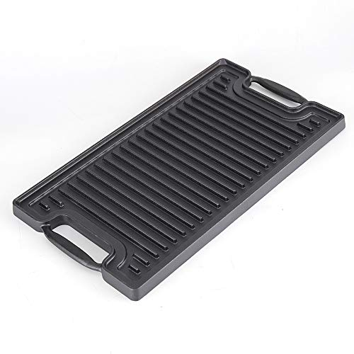"""Ekoteq Cast Iron Griddle for Gas Stovetop 