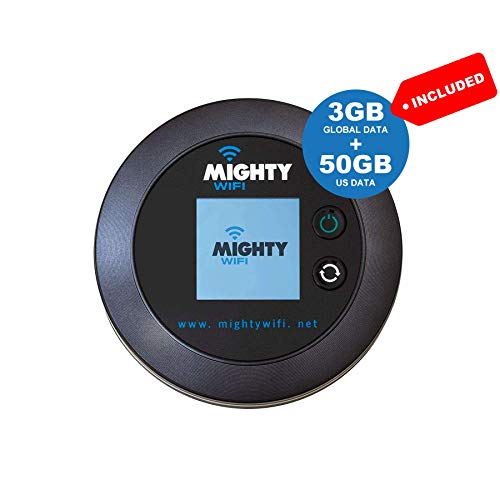 MightyWifi Cloud Black Worldwide high Speed Hotspot with US 50GB &...