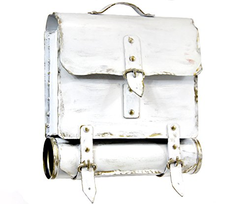Wamat außergewöhnlich Briefkasten Postkasten rostfreier Stahl echte Schmiedekunst weiß