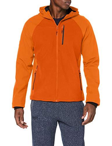 Superdry Hooded Softshell Chaqueta, Naranja (Denver Orange Tsw), M para Hombre