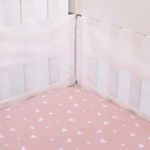 ED Ellen DeGeneres Cotton Tail - Ivory Secure-Me Crib Liner, Ivory, Lavender
