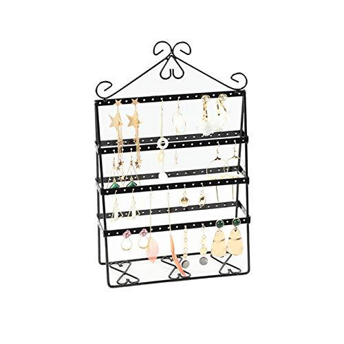 SIJI Soporte De Exhibición De Joyas 112 Orificio Pendiente Vintage De Doble Cara Pantalla De Pantalla De Pantalla De Pantalla Joyería (Color : Black)